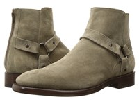 Frye Weston Harness Light Grey Soft Oiled Suede Men's Boots Tan