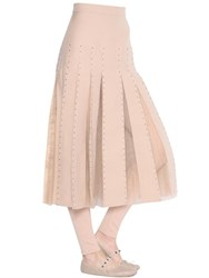 Valentino Embellished Crepe Couture And Tulle Skirt