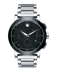 44Mm Museum Sport Chronograph Watch Silver Black Movado