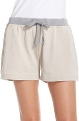 Women's Daniel Buchler Cotton Blend Lounge Shorts Grey Oat
