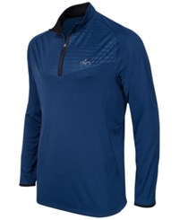 Greg Norman For Tasso Elba Men's Big And Tall Embossed Quarter Zip Sweater Only At Macy's Blue Socket
