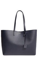 Saint Laurent 'Shopping' Leather Tote Blue Navy