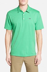 Men's Patagonia 'Trout Fitz Roy' Organic Cotton Polo Nettle Green