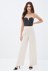 Forever 21 Faux Leather Combo Jumpsuit