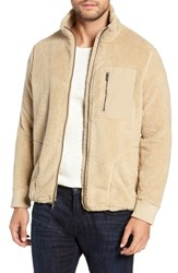 Ugg Lucas High Pile Fleece Sweater Jacket Sand