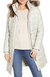 Barbour Foreland Quilt Mix Coat With Detachable Faux Fur Trim Mist