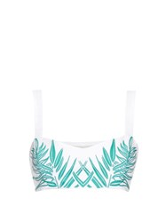 Mara Hoffman Palm Embroidered Cropped Top