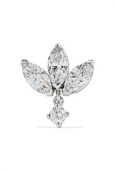Maria Tash 18 Karat White Gold Diamond Earring