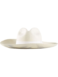 Sensi Studio Bow Detail Sun Hat White