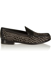 Pierre Hardy Calf Hair And Leather Loafers