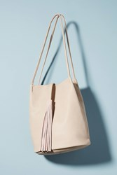 Anthropologie Tassel Tote Bag Ivory