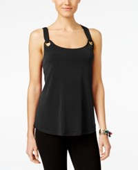 Inc International Concepts Grommet Tank Top Only At Macy's Deep Black