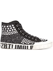 Ash Studded High Top Sneakers Black