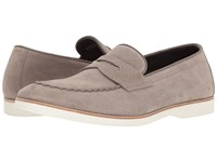 Canali Suede Penny Loafer Taupe Men's Slip On Shoes