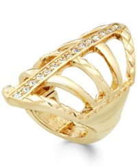 Thalia Sodi Pave Crystal Web Ring Only At Macy's Gold