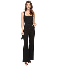 Clayton Candace Jumpsuit Slub Denim Women's Jumpsuit And Rompers One Piece Black