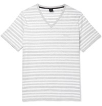 Hugo Boss Striped Stretch Cotton T Shirt Unknown