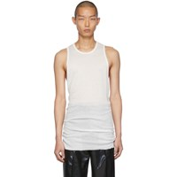 Rick Owens White Anthem Rib Tank Top