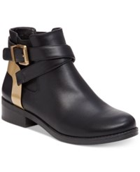 Bcbgeneration Krew Ankle Booties Women's Shoes Black Gold