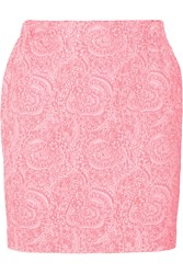 Julien David Jacquard And Twill Mini Skirt Pink