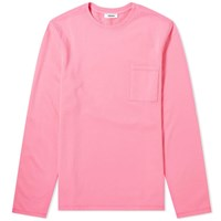 Tres Bien Open Hem Pocket Crew Sweat Pink