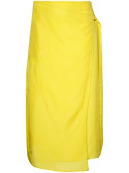 08Sircus Wrap Skirt Women Silk Cupro 0 Yellow Orange