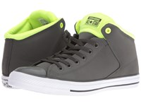 Converse Chuck Taylor All Star Leather Neoprene Street Hi Cast Iron White Volt Athletic Shoes Brown
