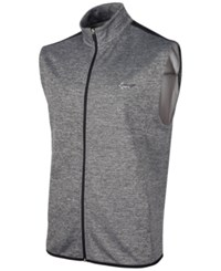 Greg Norman For Tasso Elba Hydrotech Zip Vest Only At Macy's Medium Heather Grey