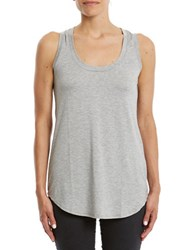 Three Dots Roundneck Tank Top Grey