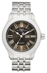 Men's Ball 'Trainmaster Roman' Bracelet Watch 40Mm