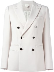 Max Mara Double Breasted Blazer Nude And Neutrals