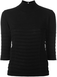 Blumarine Keyhole Back Sweater Black