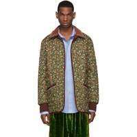 Gucci Green And Orange Flower 'Chateau Marmont' Jacket