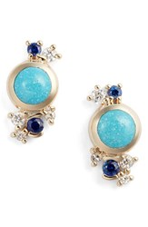 Mociun Women's Turquoise Sapphire And Diamond Earrings Nordstrom Exclusive