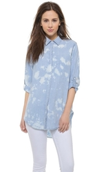 Sundry Oversized Shirt Tie Dye Chambray