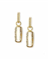 Jude Frances Sonoma Long Cushion Champagne Citrine Earring Charms With Diamonds
