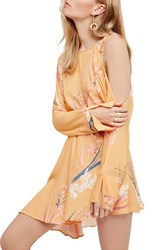 Free People Women's Clear Skies Cold Shoulder Tunic Orange