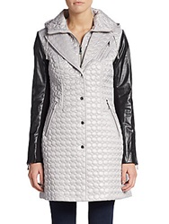 Dawn Levy Sly Quilted Knit Paneled Jacket