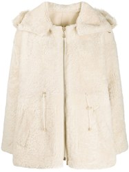 Yves Salomon Shearling Hooded Jacket 60