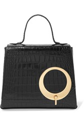 Trademark Harriet Small Croc Effect Leather Tote Black