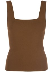 Vince Square Neck Tank Top Brown