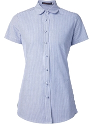 Harvey Faircloth Striped Short Sleeve Shirt