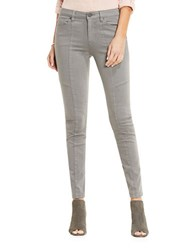 Vince Camuto Five Pocket Front Seam D Luxe Twill Moto Jeans Grey