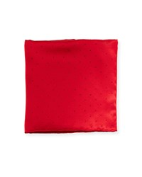 Stefano Ricci Crystal Embellished Pocket Square Red