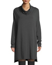 Beyond Yoga Cowl Neck Long Sleeve Sweater Dress Charcoal