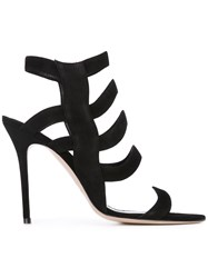 Aperlai Strappy Sandals Women Leather Suede 37 Black