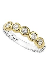 Women's Lagos Diamond Stacking Ring Gold Silver