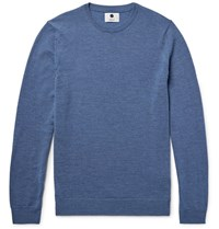 Nn.07 Nn07 Charles Melange Wool Sweater Blue