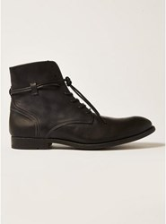Topman Black Leather Moriarty Brogue Boots