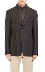 Piattelli Herringbone Two Button Sportcoat Brown Size 38 Regular